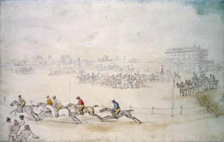 York Races (painted around 1800 by the famous caricaturist Thomas Rowlandson), one of many other sources of entertainment football would have to compete with